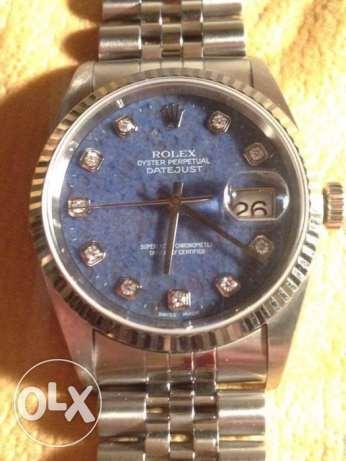 Rolex Datejust - Diamonds + blue sodalite rock & white gold