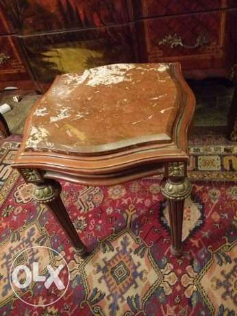 2 very nice old side table ostor mtrab 48 x 48 x 50 with aghader