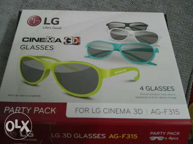 4 glasses 3D LG new