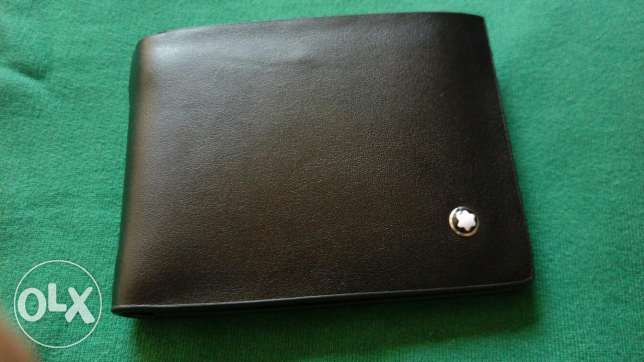 Mont blanc black wallet