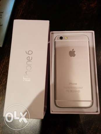 Iphone 6 4G/LTE Silver (16 GB) with box and all original acc