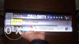 Call of duty ghosts. Infamous. Angry Birds . Ps3