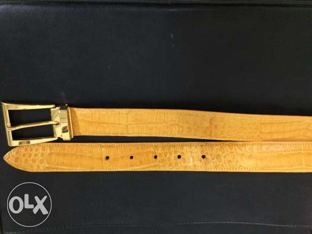 Belt genuine crocodile leather Made in USA