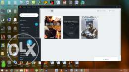 للبيع أكونت originشخصى عليهTitan fall 1+star wars battlefront .deluxe+