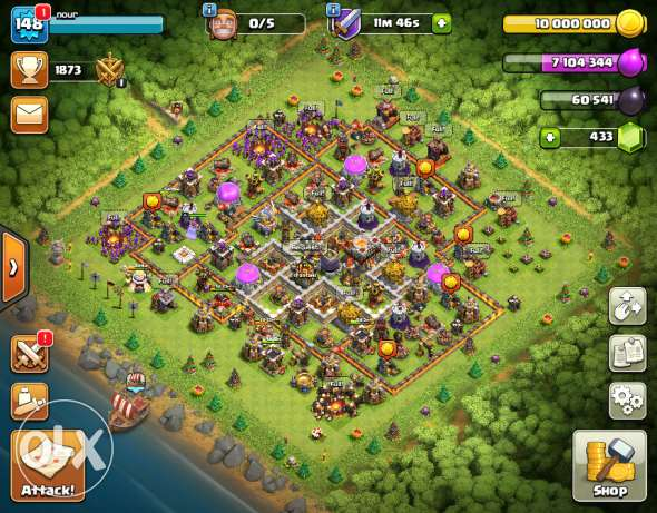 Clash of clans account lvl 11 max