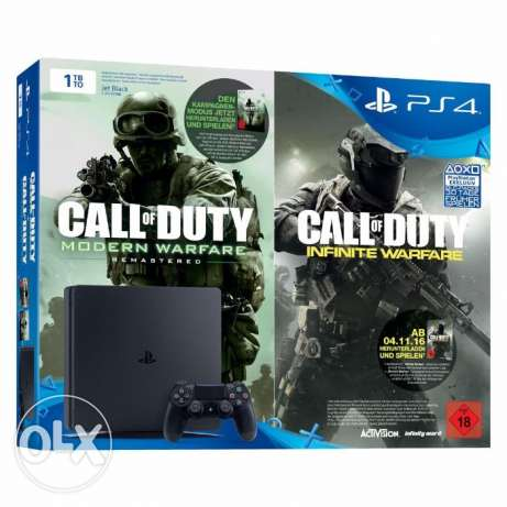 "Playstation 4 slim 1 TB + COW IW legacy edition ""PS4 slim"""