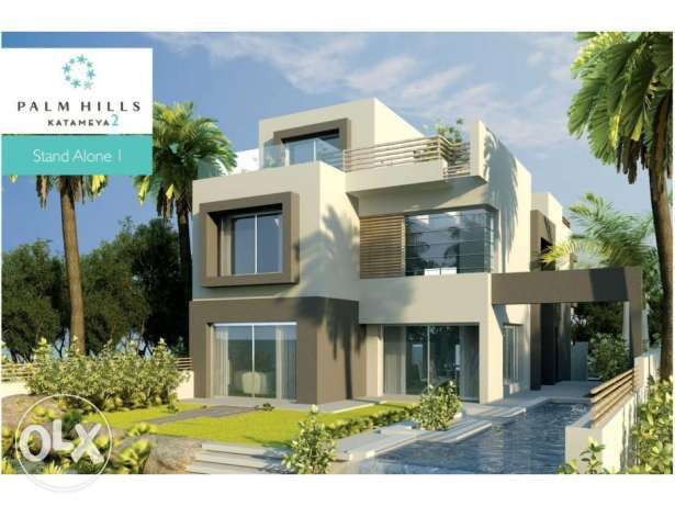 In compound pk2 - standalone 300m prime location التجمع الخامس -  1