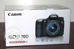 Canon 70 D + 18-55 lens kit new and sealed in box amazing price