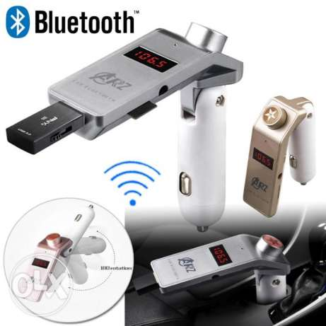 Car MP3 Player USB FM Transmitter TZ800 Bluetooth المقطم -  1