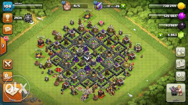 Clash of Clans lvl9 max 6,000 Gems