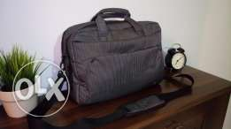 L'avvento Laptop Bag for 15.6 Inch Laptops-Black & Grey Strips