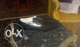 Florsheim . Genuies black leather size 12 . 46 extra wide