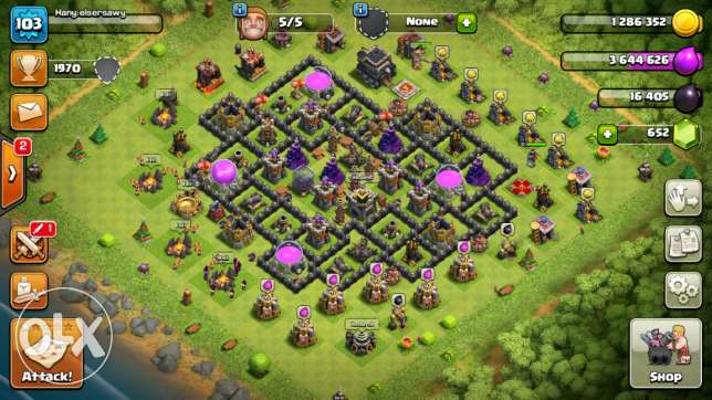 clash of clans town hall 9400