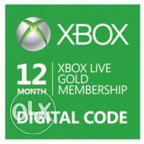 Xbox live gold digital code 1 year