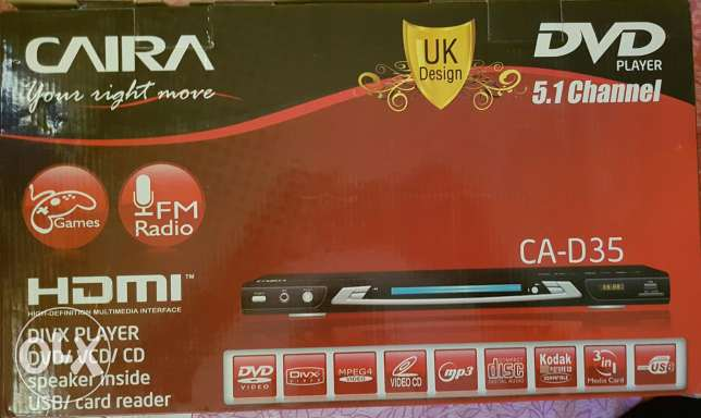 Caira DVD player 5.1 Channel