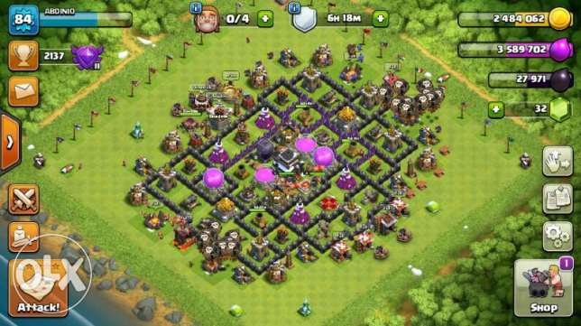townhall 9 cannon and mortar max troops max