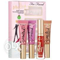 set of too faced consists of 4 matte lipsticks