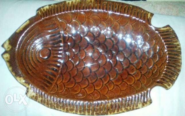Fish dish Made of high-quality pottery made in france