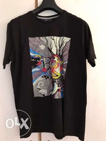 New Black T-shirt - Psychedelic Art Print