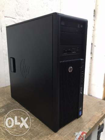 للمهتمين بالجرافيكس hp workstation cash20m ram32g 8core hdd320 vga 5g