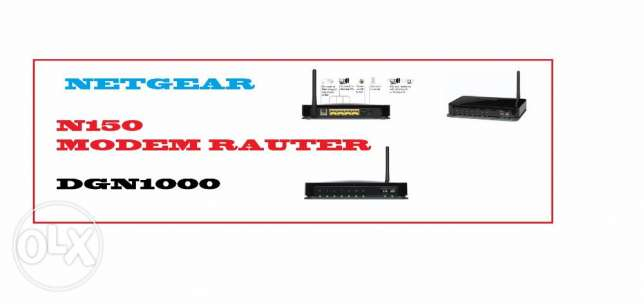 DGN1000 – Wireless-N Router with Built-in DSL Modem