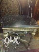 2 side table with spainsh marble 52 x42 x52 both for 1400