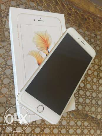 للبيع Iphone 6S plus 64 G حاله ممتازه لون جولد