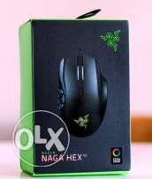Razer Naga Hex V2 MOBA Gaming Mouse **جديد متبرشم**