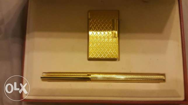 dupont gold plated set pen and large lighter القاهرة -  2