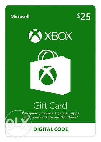 Xbox gift card 25 $