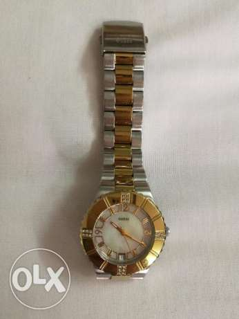 Guess original female watch silver & gold good as new