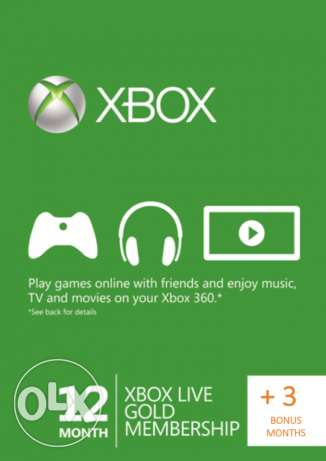 Xbox live gold 15 month