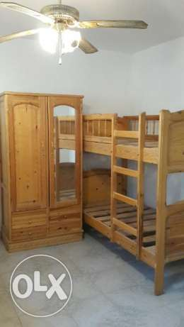 Bunk beds and wardrobe for kid's room