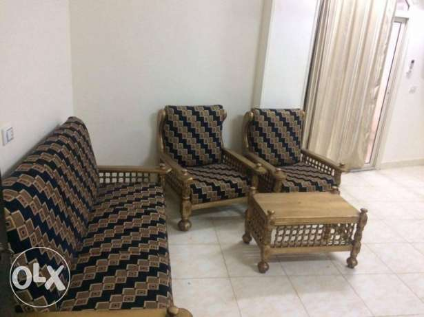 For rent large furnished three bedroom apartment in Hadaba .2000 LE الغردقة -  1