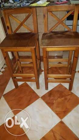 Bar Wooden chairs