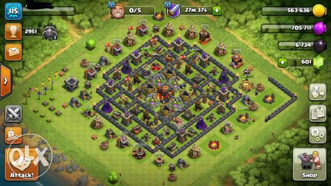 Best offer 2 accounts Clash of clans town hall10 / clash royal lvl 5