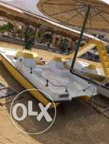 100 % Italian made made Pedalo with Keel +Wheels + ladder سلم + كيل