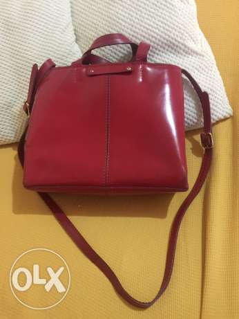 Zara basic leather handbag