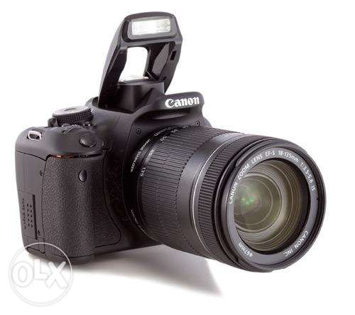 Canon 600-D With Canon 18-135 Lens As New