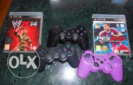 ps3 500 GB+2 controler+2 CD+1 controler cover