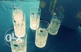 """Crystal Glasses """" Hand Cut Lead Crystals"""" .. Made in Czech Price 1000$"""