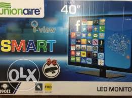 LED Smart TV 40 Inch (Union Air) + Free Wireless Keyboard&Mouse