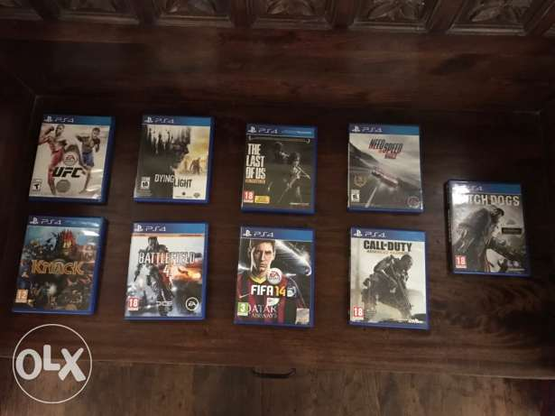 9 GAMES for PS4. *Rare offer*