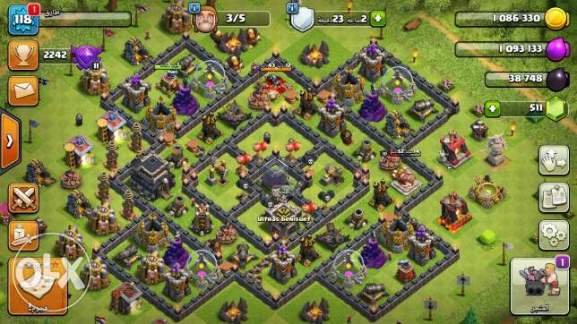 Clash of clans tawon 9 max + clan 6