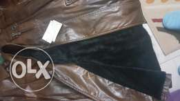 New jacket Brown leather jacket 3xl