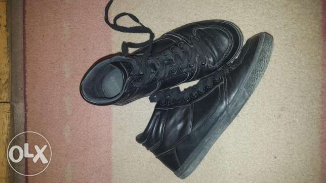 Black half boot pull and bear shoes