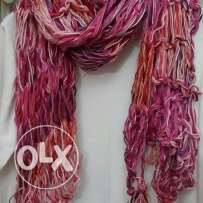 Colored winter scarf