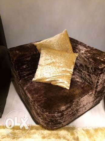 Brown Velvet Corner Chair - From Emirates - As good as new