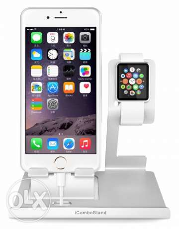 Apple iphone + iWatch Aluminum Stand استاند ساعه ابل