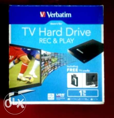 HDD 1Tb. Verbatim like new working with lcd & Pc. Too الهرم -  1